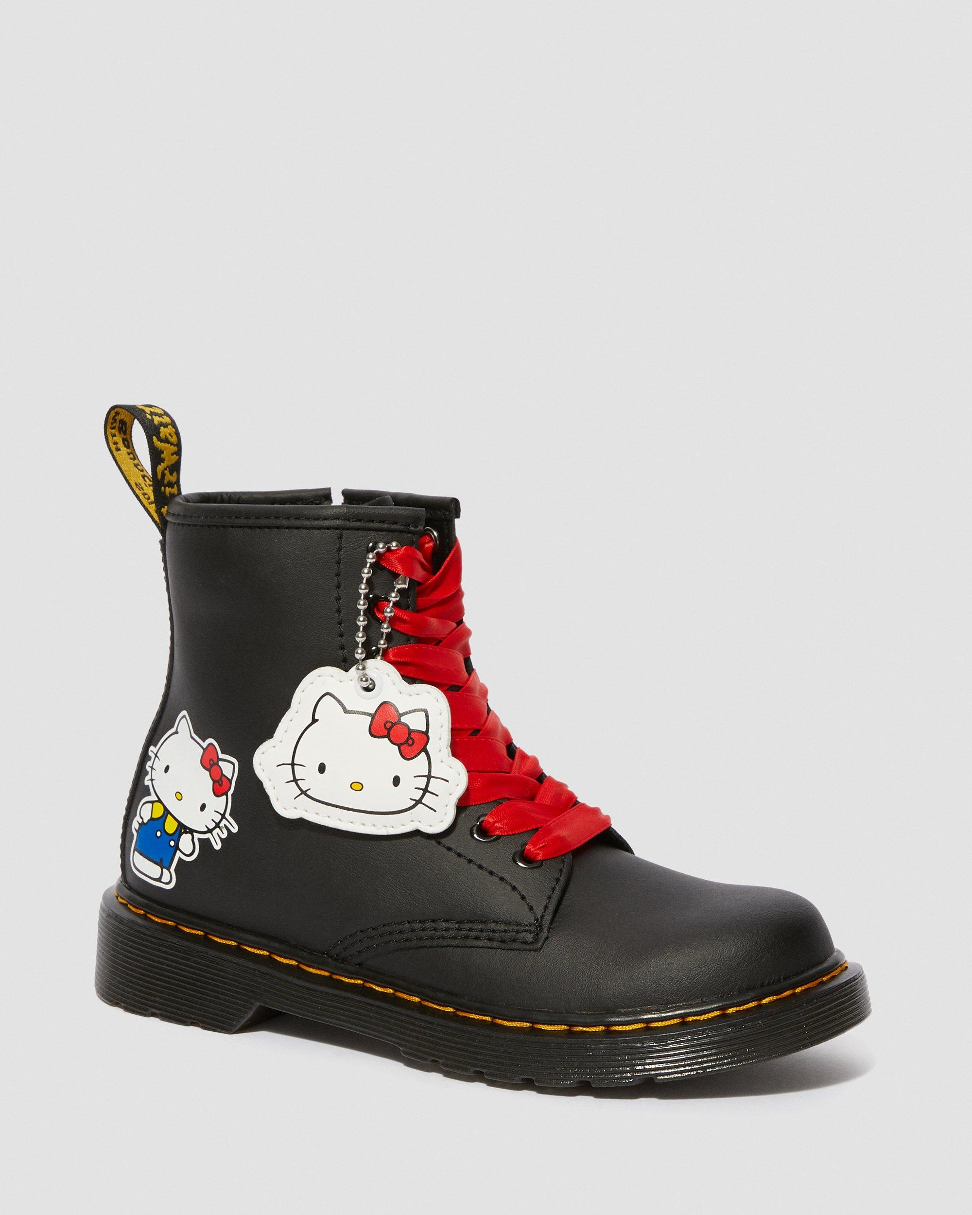 JUNIOR HELLO KITTY 1460 LEATHER ANKLE
