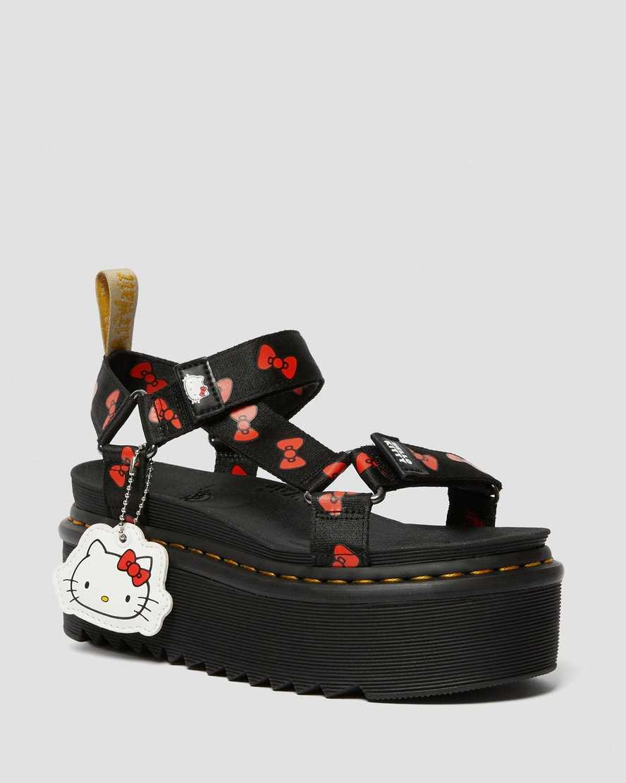 Vegan Women's Hello Kitty Platform Sandals | Dr Martens