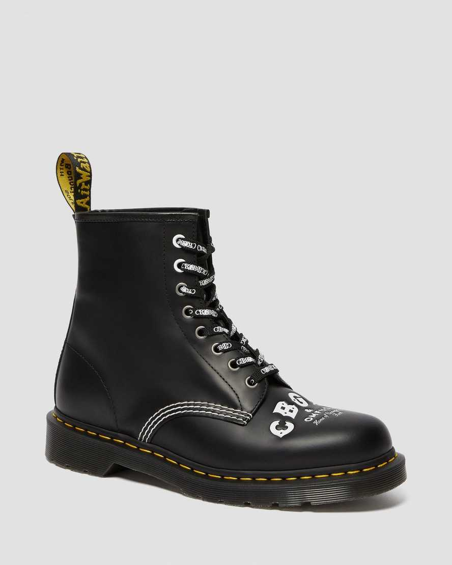 1460 Cbgb Smooth Leather Lace Up Boots1460 Cbgb Smooth Leather Lace Up Boots   Dr Martens