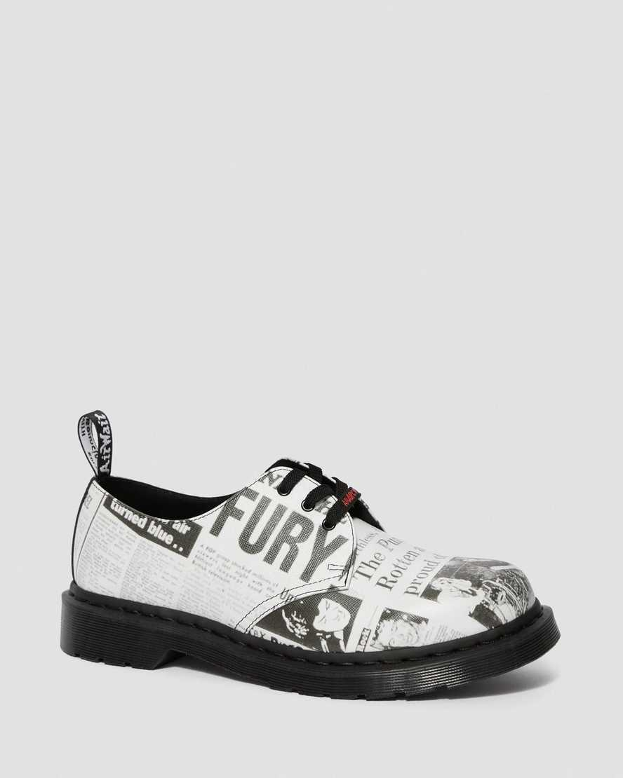 1461 SEX PISTOLS LEATHER PRINTED OXFORD SHOES   Dr Martens