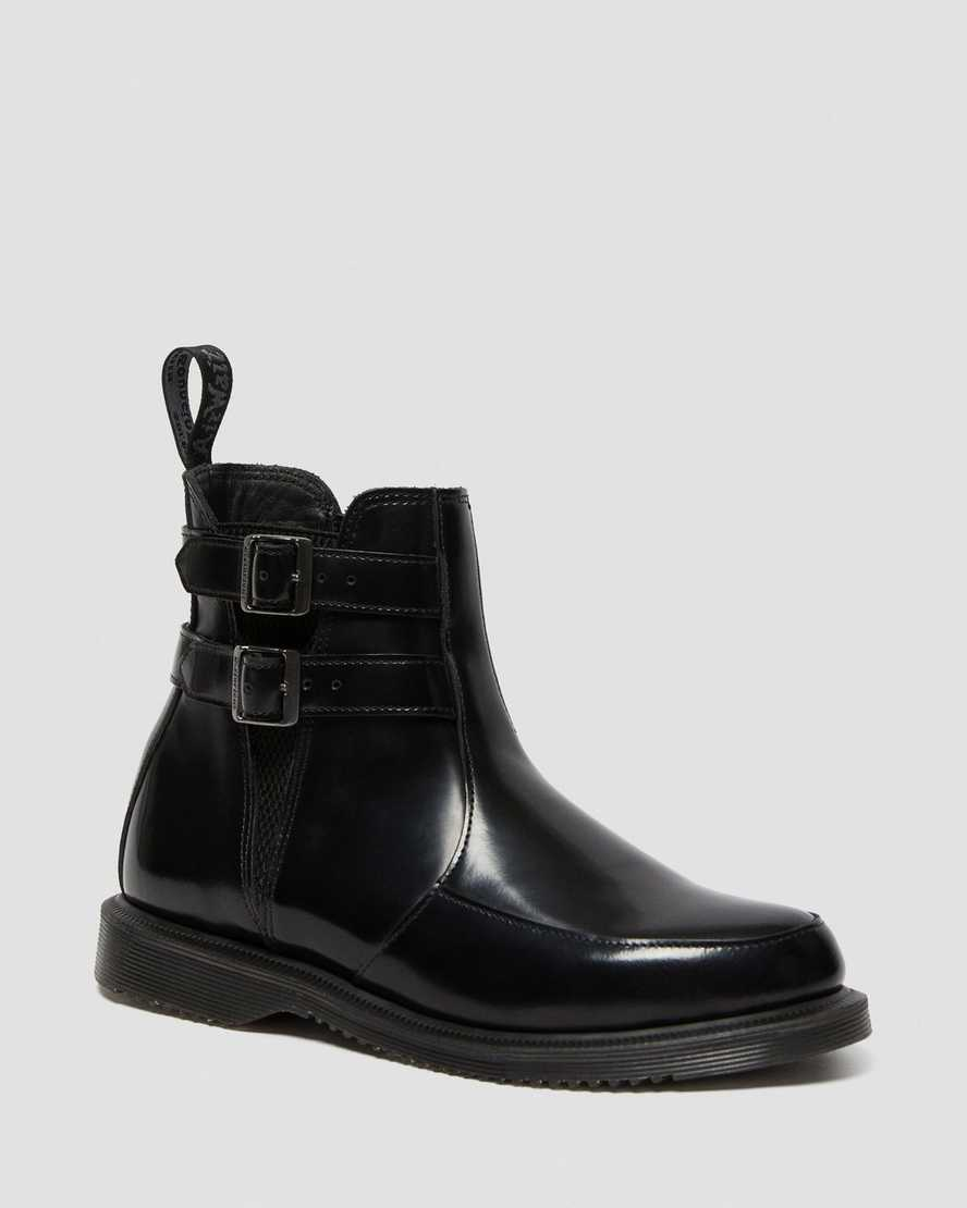 STIVALETTI CHELSEA DI PELLE FLORA POLISHED SMOOTH | Dr Martens