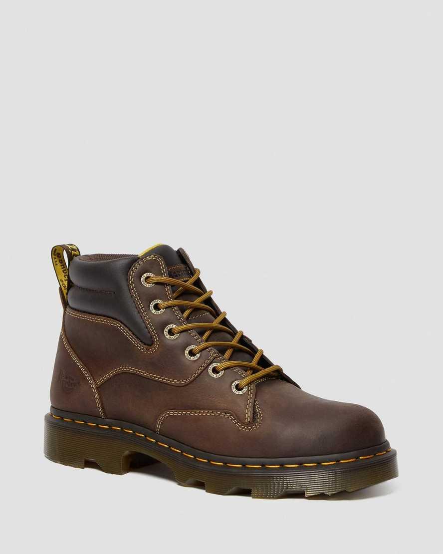 Kelham Crazy Horse Leather Work Boots | Dr Martens