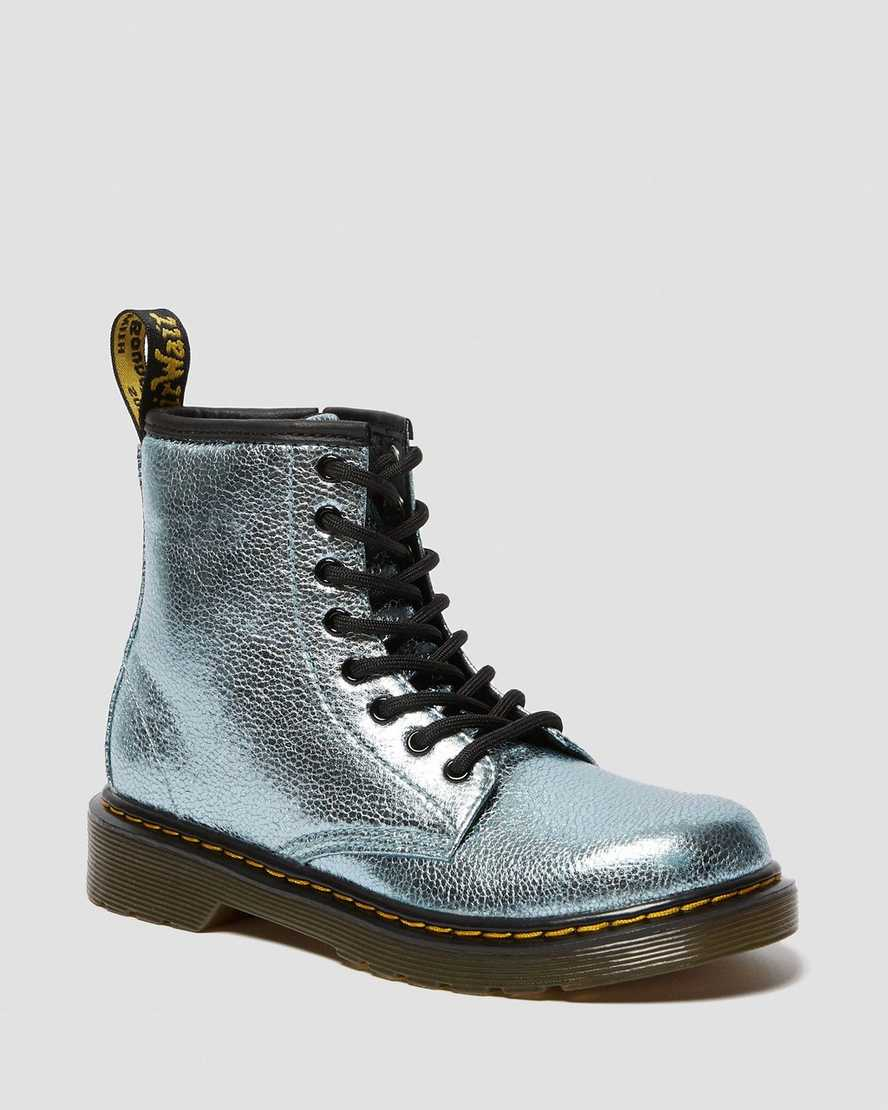 JUNIOR 1460 CRINKLE METALLIC LACE UP BOOTS   Dr Martens