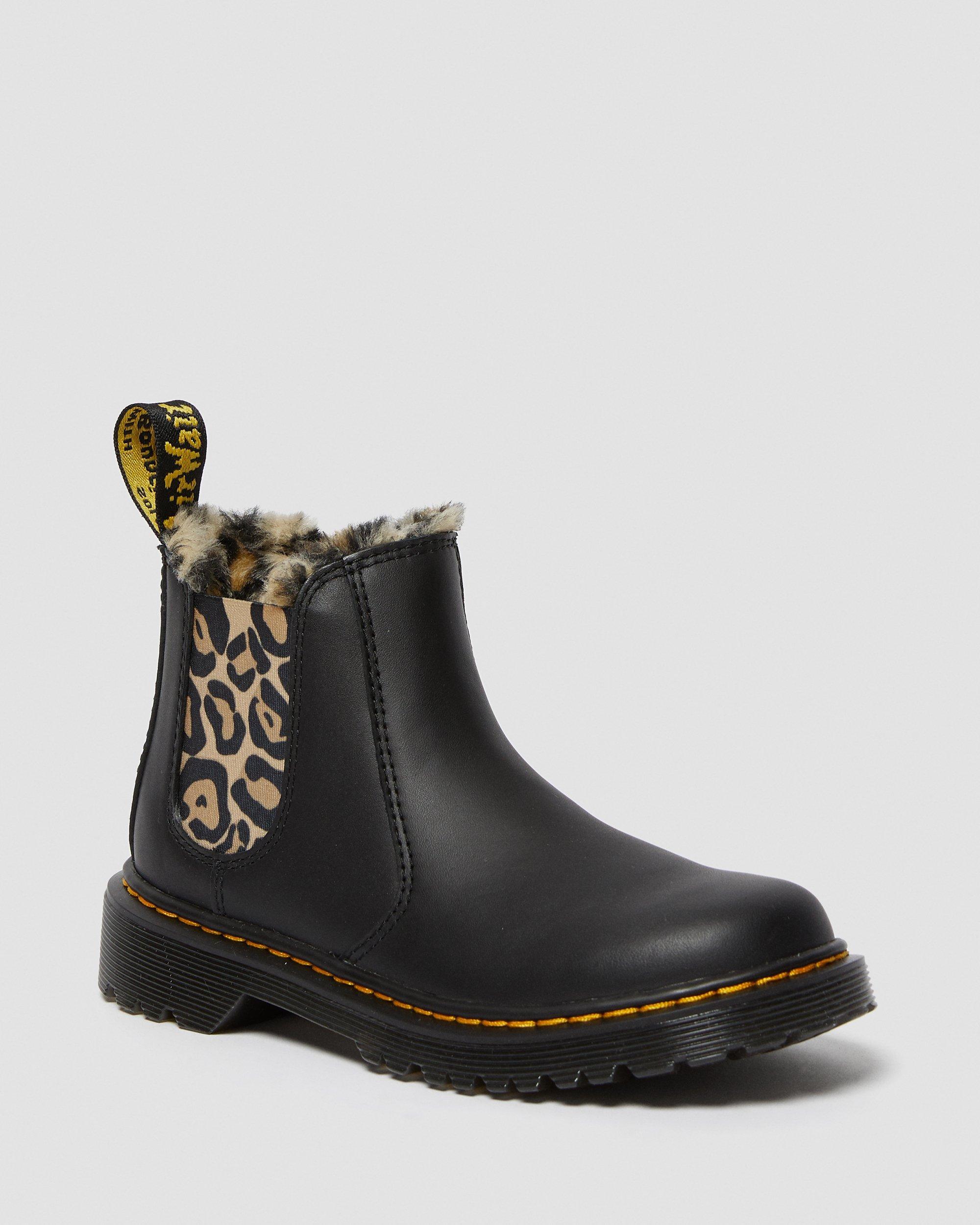 chelsea leopard boots