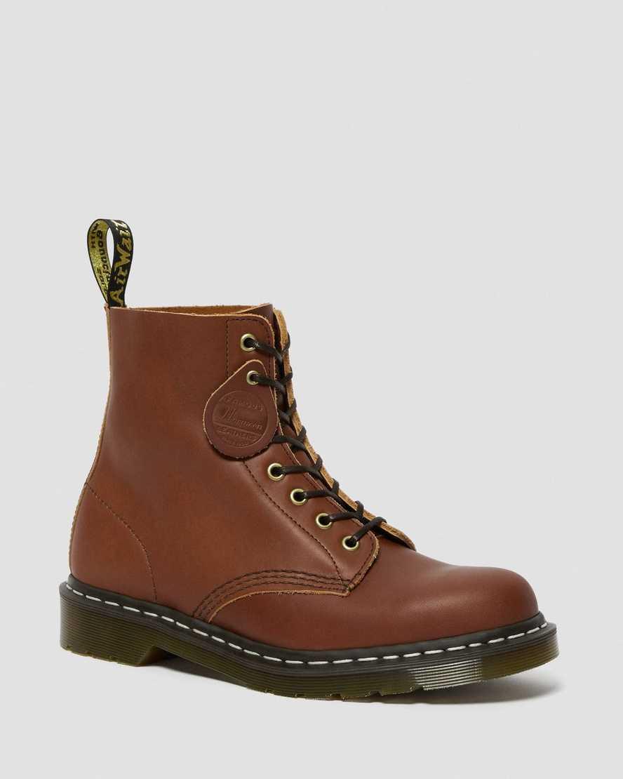 1460 Veg Tan Leather Lace Up Boots   Dr Martens