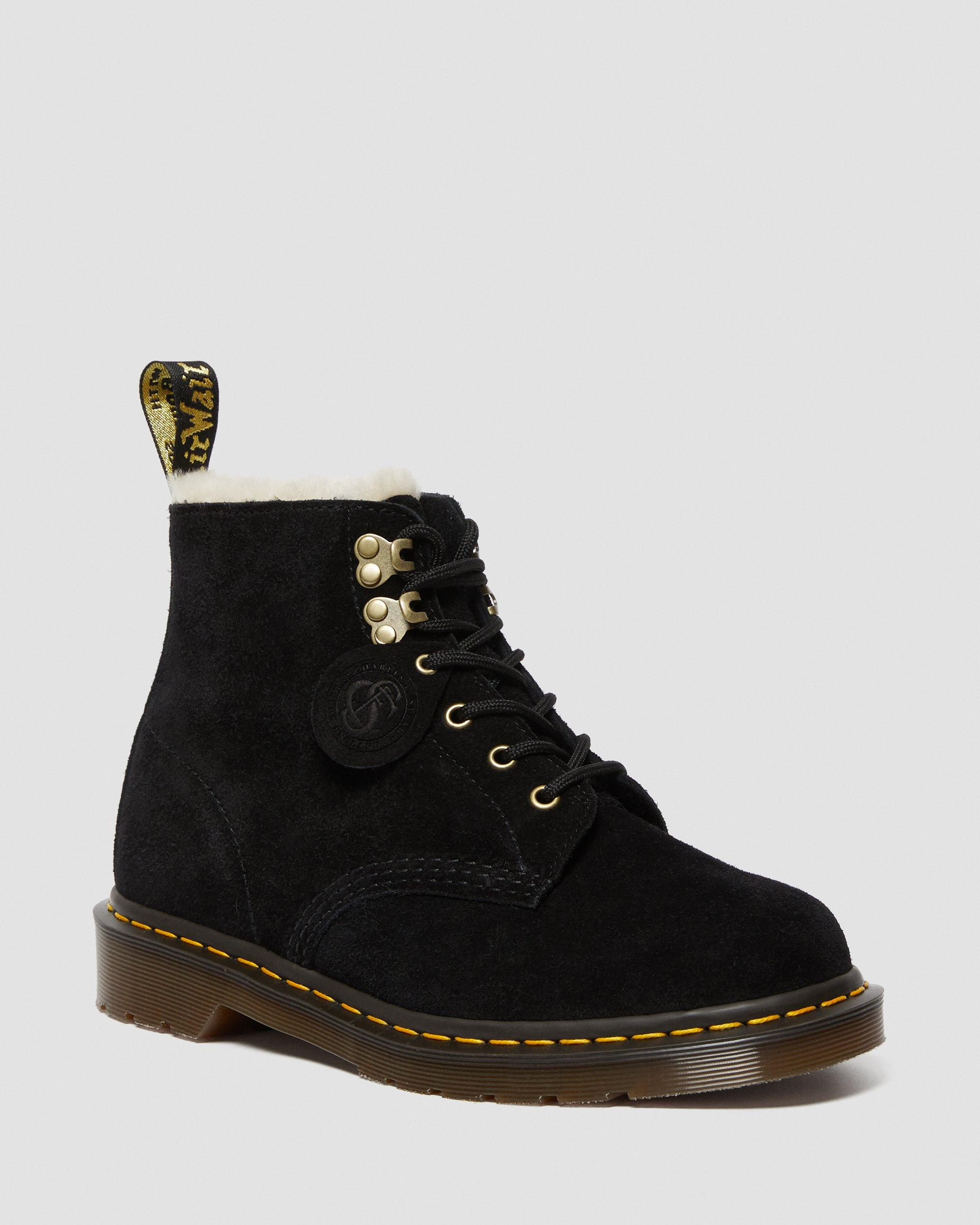 101 SUEDE SHEARLING LINED BOOTS | Dr