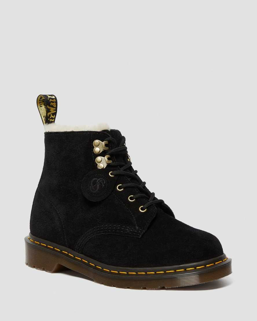 101 Suede Shearling Lined Boots | Dr Martens