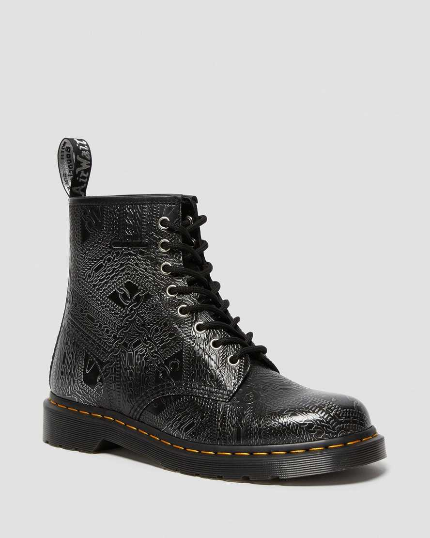 1460 Arcadia Embossed Leather Boots | Dr Martens