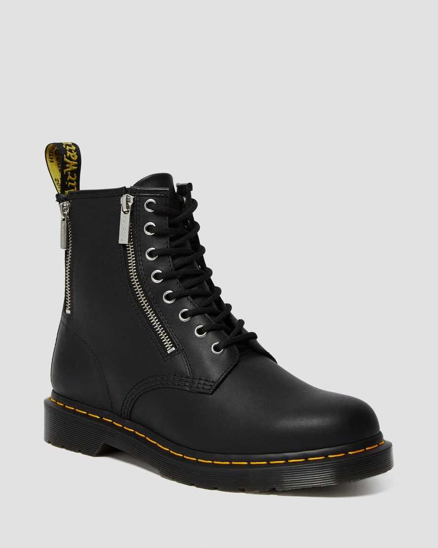 1460 Zip Nappa Leather Lace Up Boots   Dr Martens