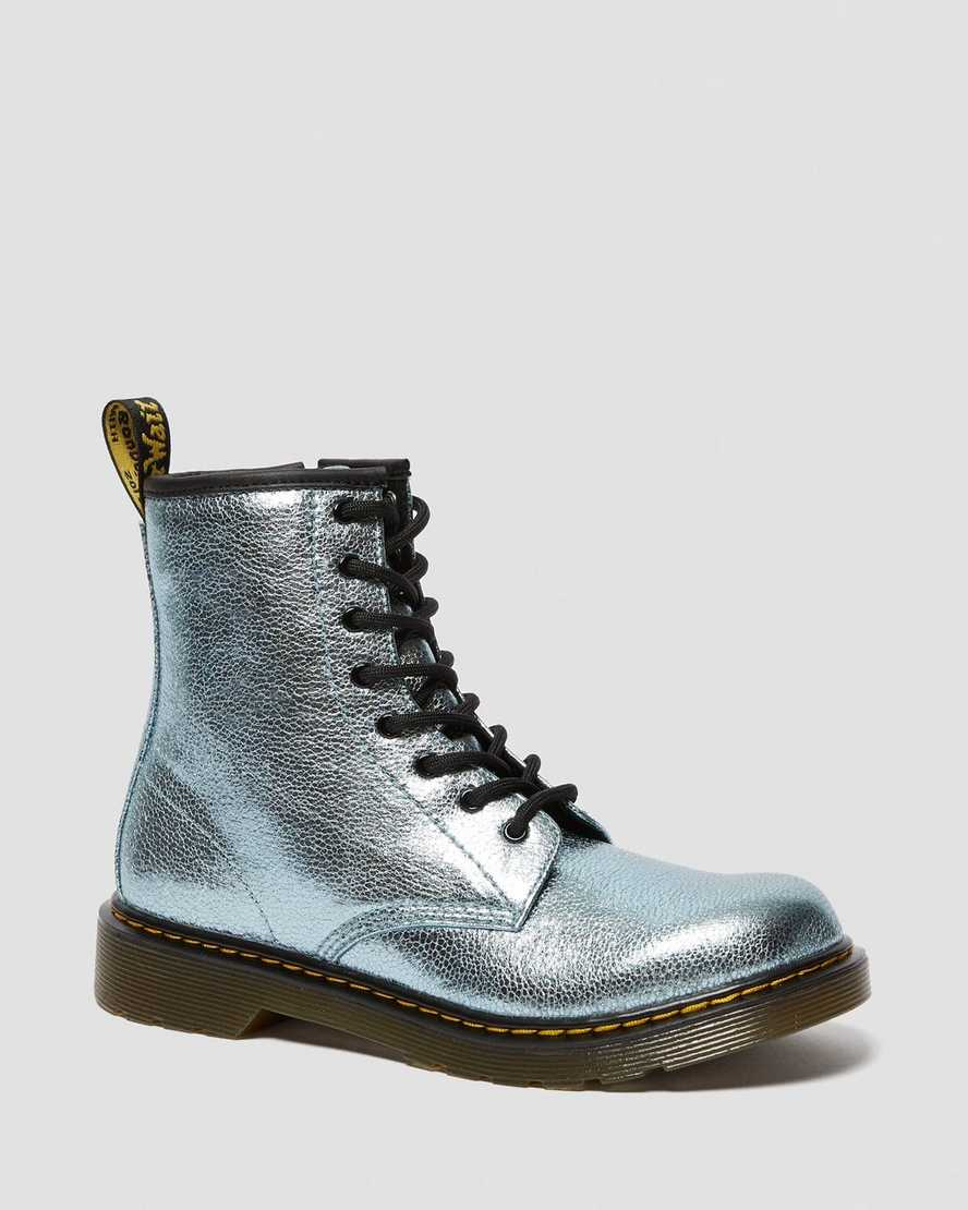 YOUTH 1460 CRINKLE METALLIC LACE UP BOOTS   Dr Martens