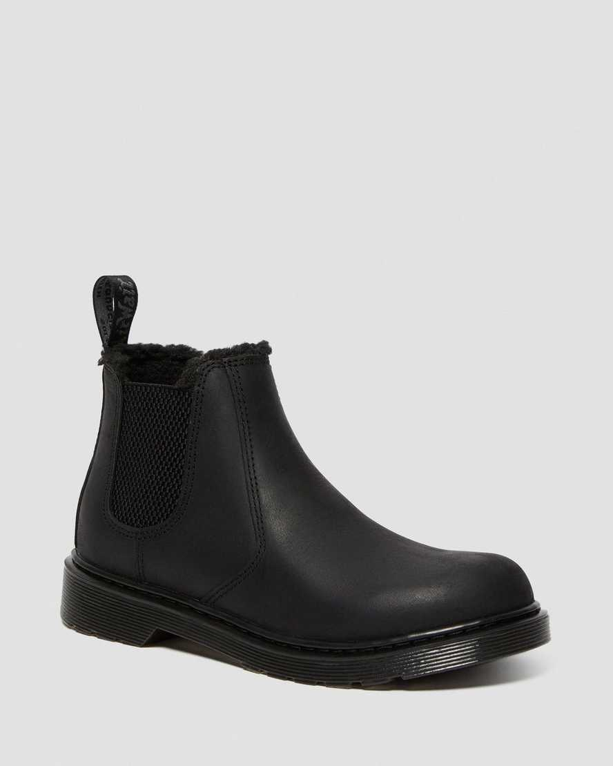 Youth 2976 Faux Fur Lined Chelsea Boots   Dr Martens