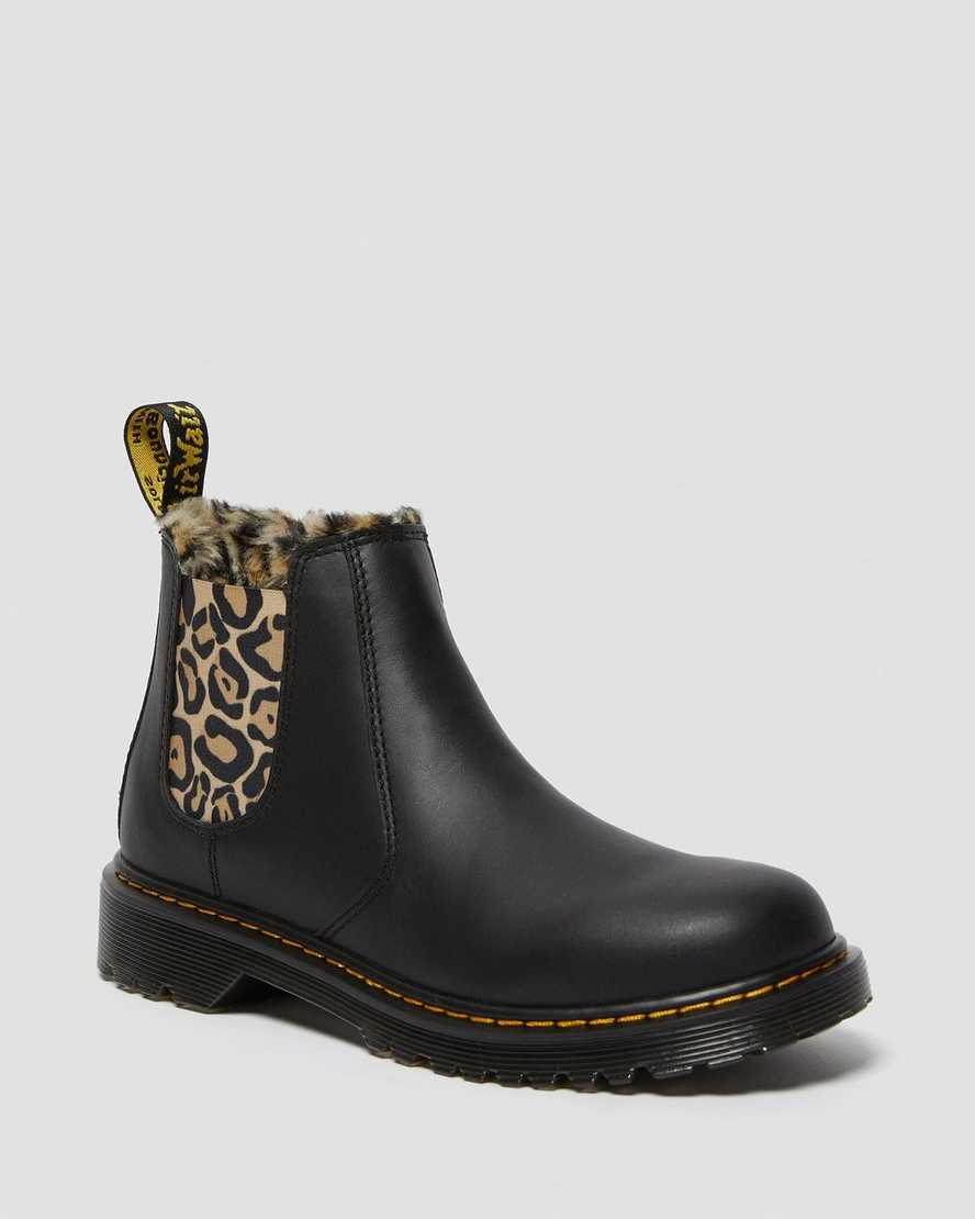 Youth 2976 Leopard Faux Fur Chelsea Boots | Dr Martens