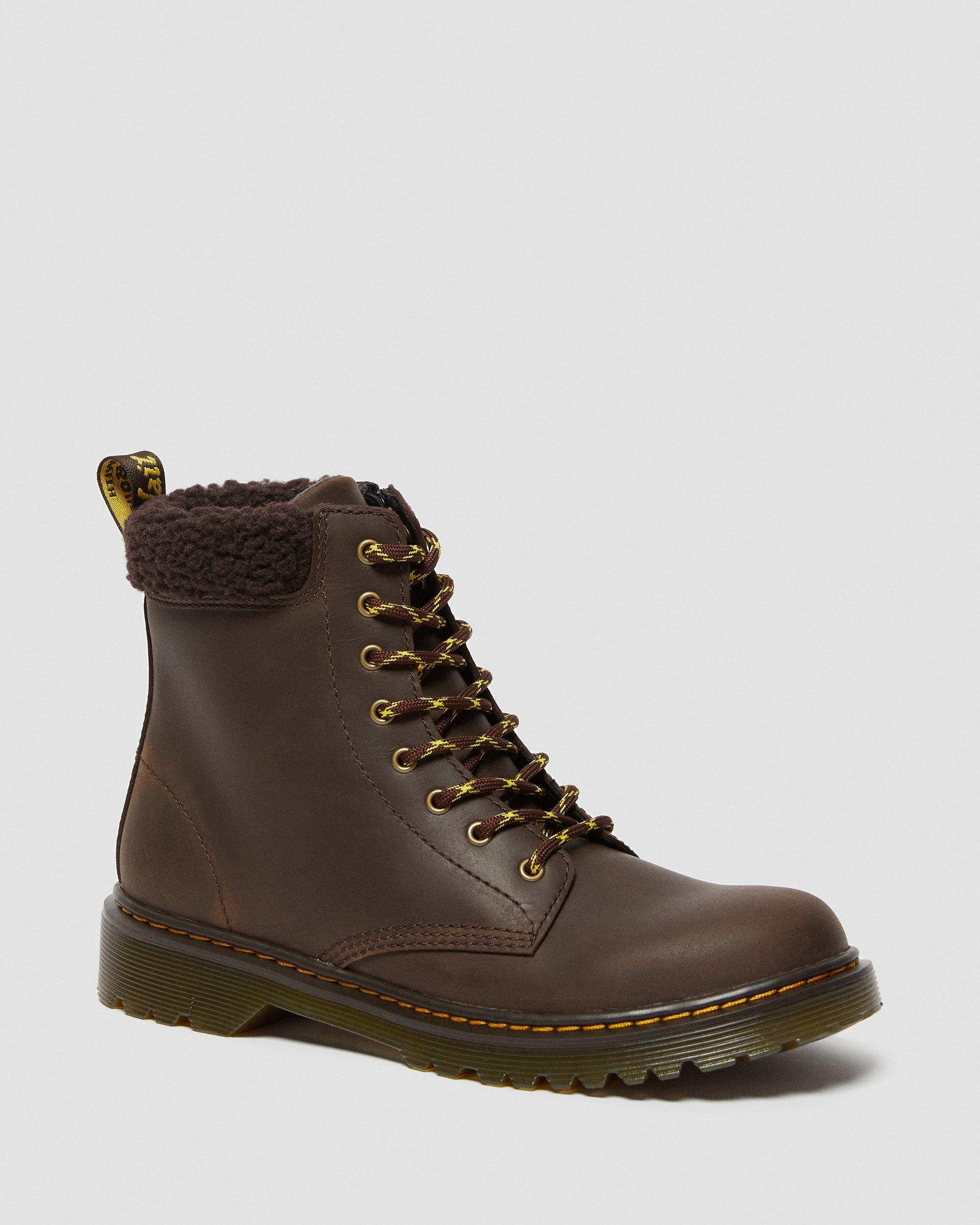 YOUTH 1460 FLEECE LINED LEATHER BOOTS