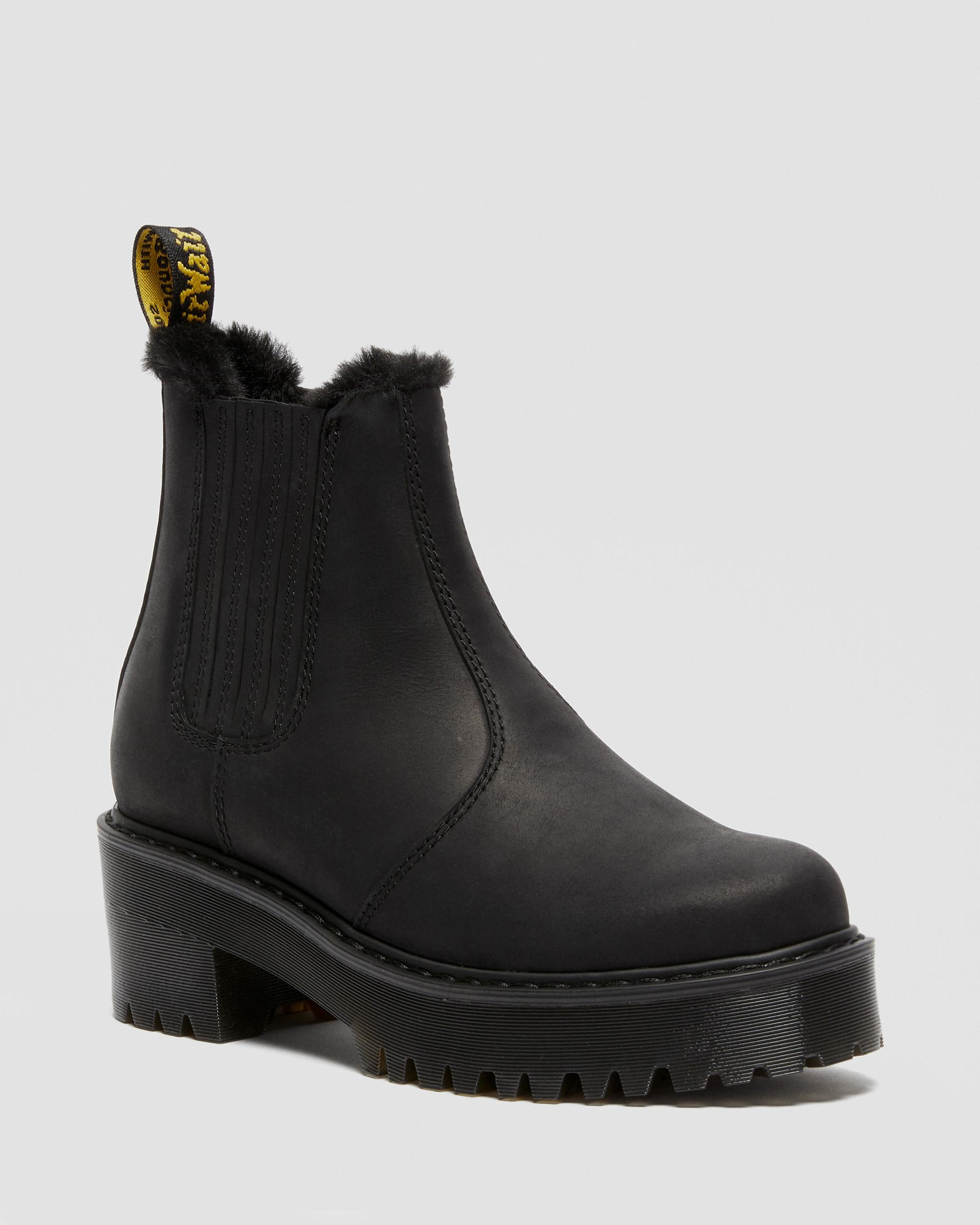 ROMETTY FAUX FUR LEATHER CHELSEA BOOTS