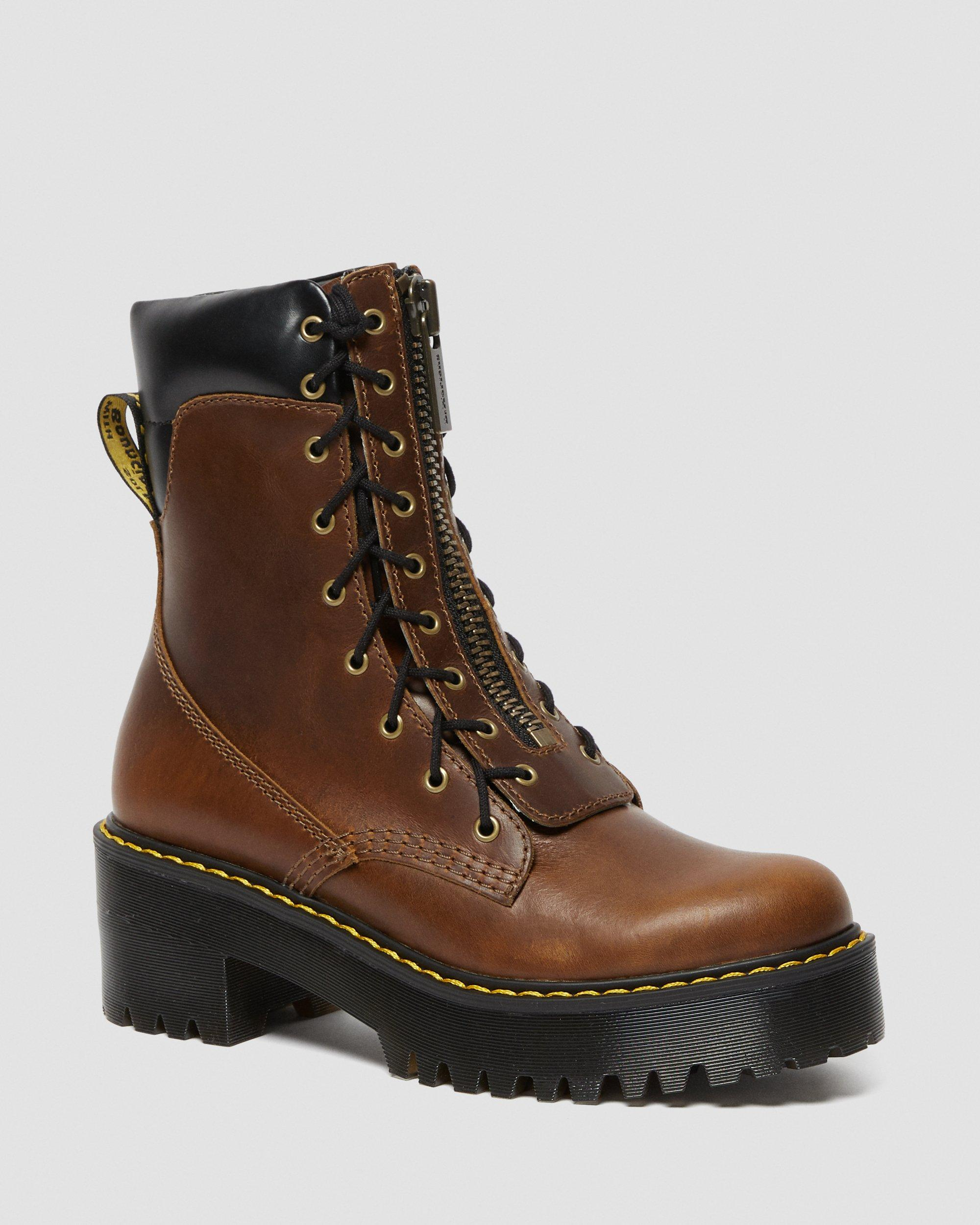 KARMILLA LEATHER LACE UP BOOTS | Dr