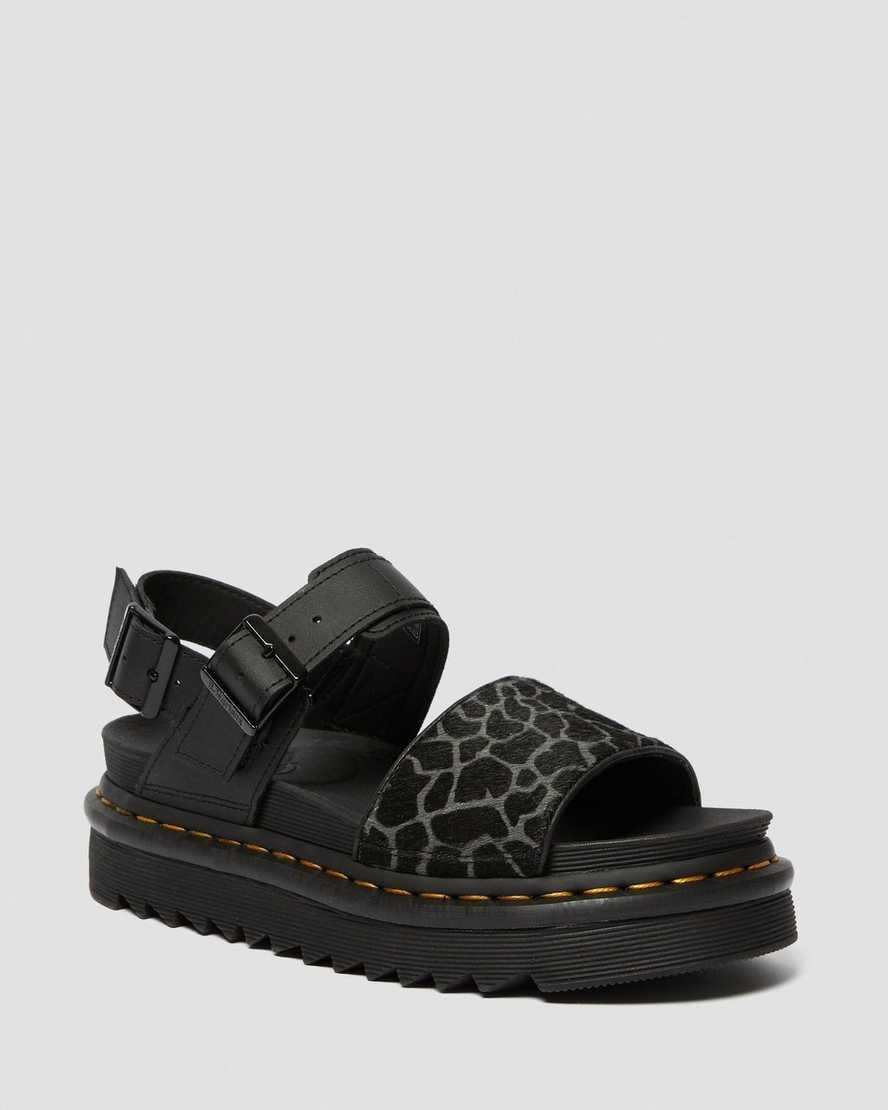 Voss Animal Print Leather Sandals | Dr Martens