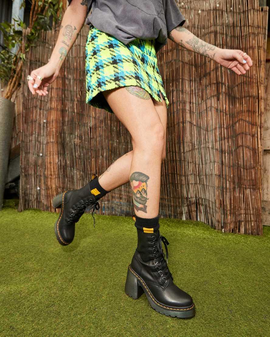 Botas De Martin Zapatos OHQ Mujer Knight Punta Redonda con Cordones De Cuero Fino De Tac/óN Largo Martin Boots 41, Blanco#2