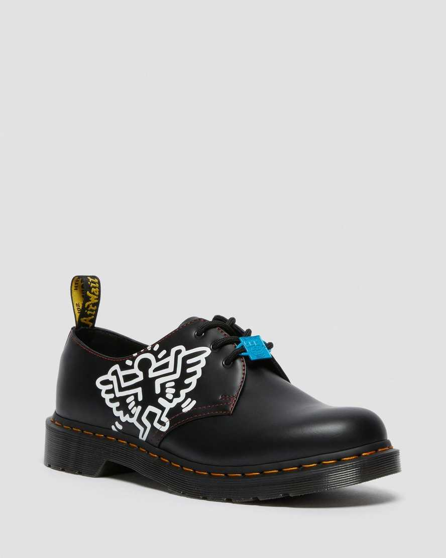 https://i1.adis.ws/i/drmartens/26834001.88.jpg?$large$1461 Keith Haring Black Leather Shoes | Dr Martens
