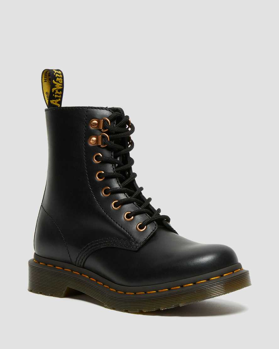 https://i1.adis.ws/i/drmartens/26874001.88.jpg?$large$1460 Pascal Rose Gold Hardware Leather Lace Up Boots | Dr Martens