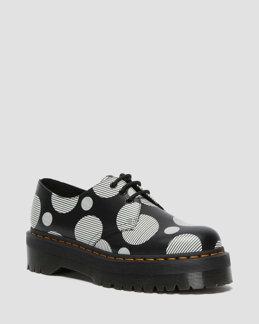 https://i1.adis.ws/i/drmartens/26879009.88.jpg?$large$1461 Quad Polka Dot Smooth Leather Platform Shoes | Dr Martens