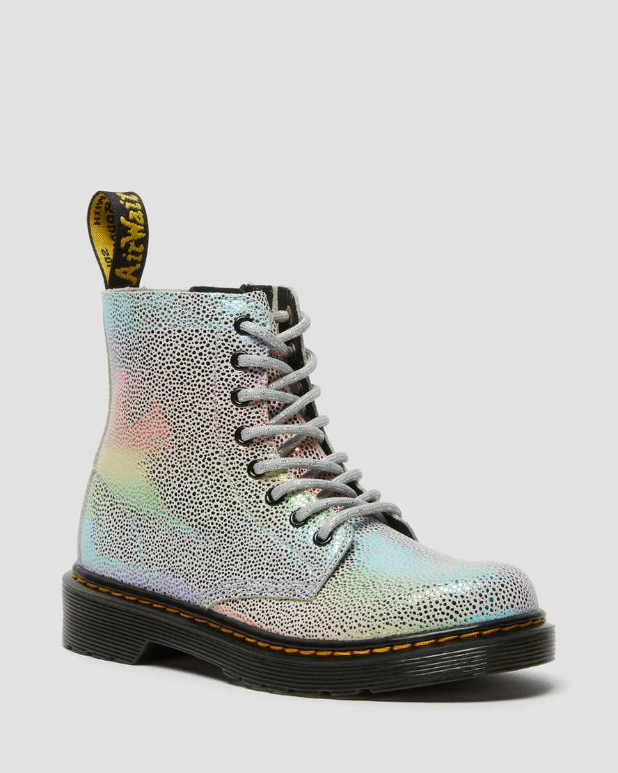 https://i1.adis.ws/i/drmartens/26970980.88.jpg?$large$Junior 1460 Pascal Iridescent Lace Up Boots   Dr Martens