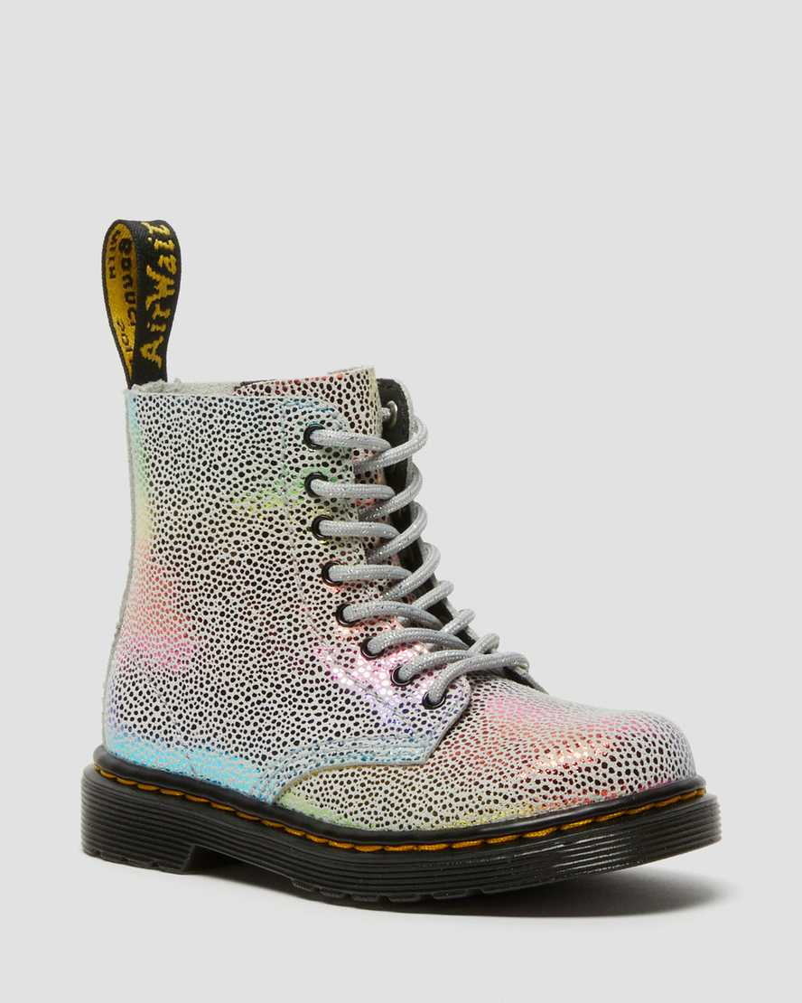 https://i1.adis.ws/i/drmartens/26971980.88.jpg?$large$Toddler 1460 Pascal Iridescent Lace Up Boots   Dr Martens