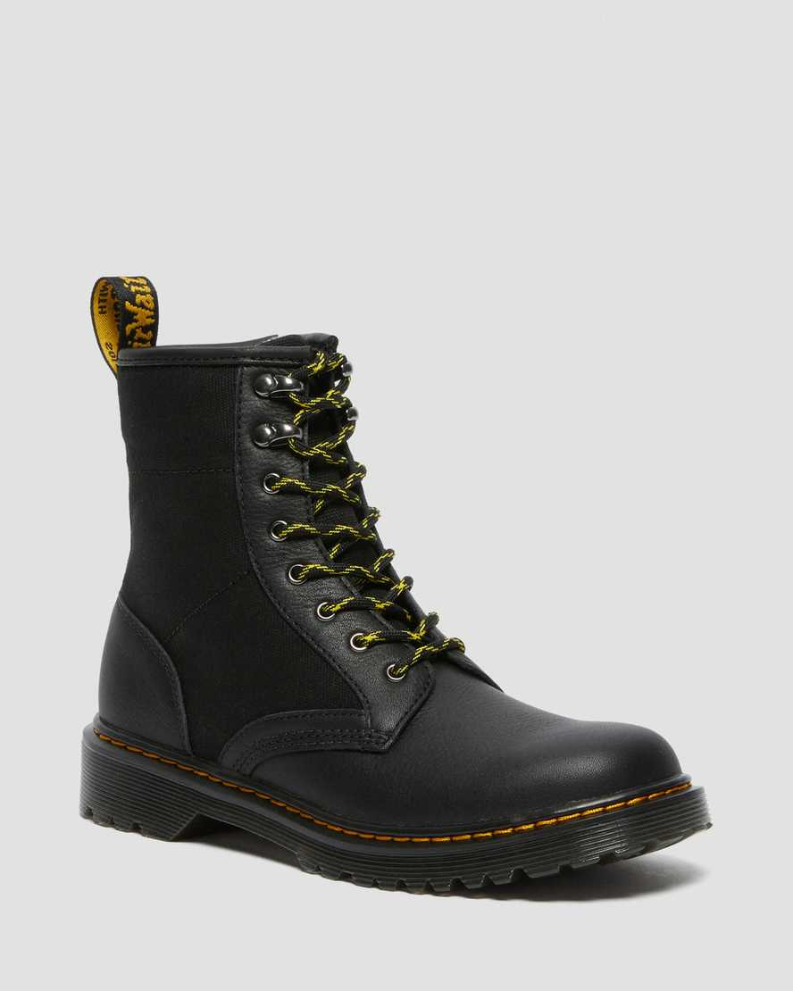 https://i1.adis.ws/i/drmartens/26988001.88.jpg?$large$Youth 1460 Panel Canvas and Leather Lace Up Boots | Dr Martens