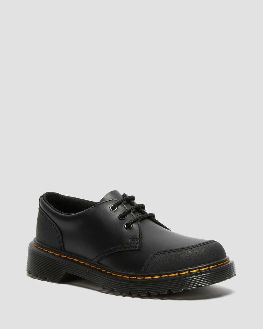https://i1.adis.ws/i/drmartens/27014001.88.jpg?$large$Junior 1461 Overlay Leather Shoes | Dr Martens