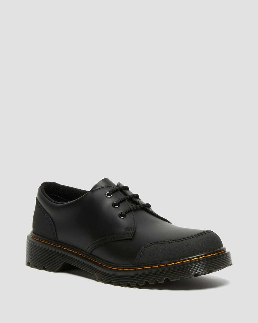 https://i1.adis.ws/i/drmartens/27015001.88.jpg?$large$Youth 1461 Overlay Leather Shoes   Dr Martens