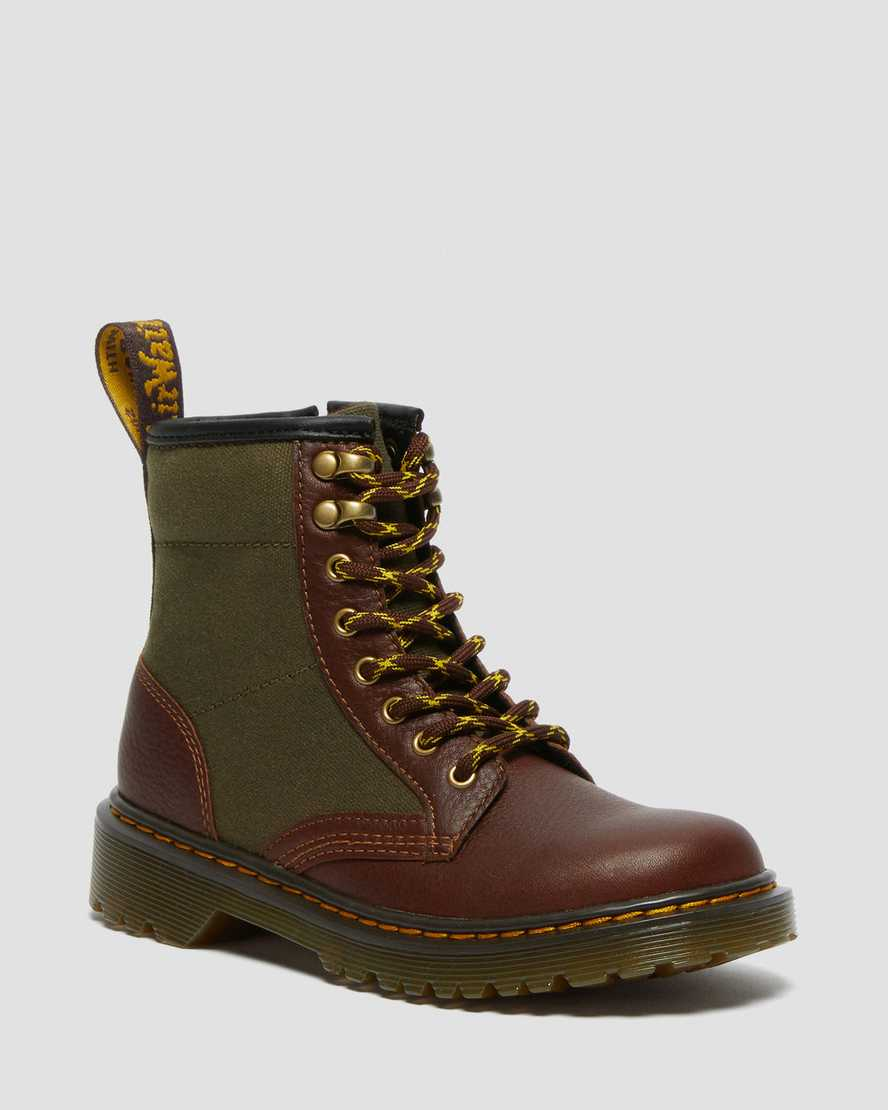 https://i1.adis.ws/i/drmartens/27062849.88.jpg?$large$Junior 1460 Panel Canvas and Leather Lace Up Boots | Dr Martens