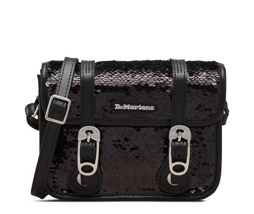d444661601a 7 inch Reversible Sequin Leather Satchel | Womens | Dr. Martens ...