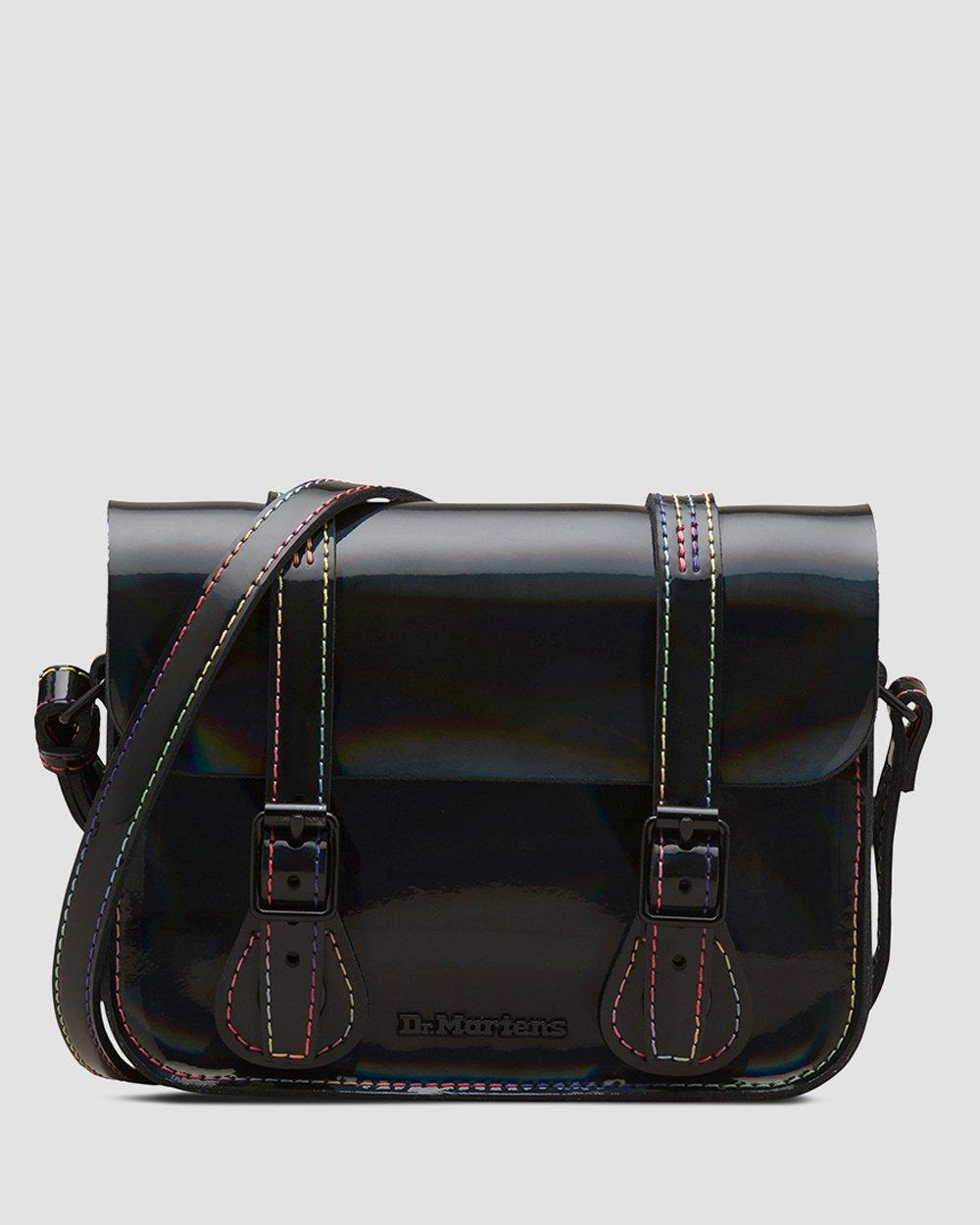 DR MARTENS 7 inch Rainbow Patent Leather Satchel