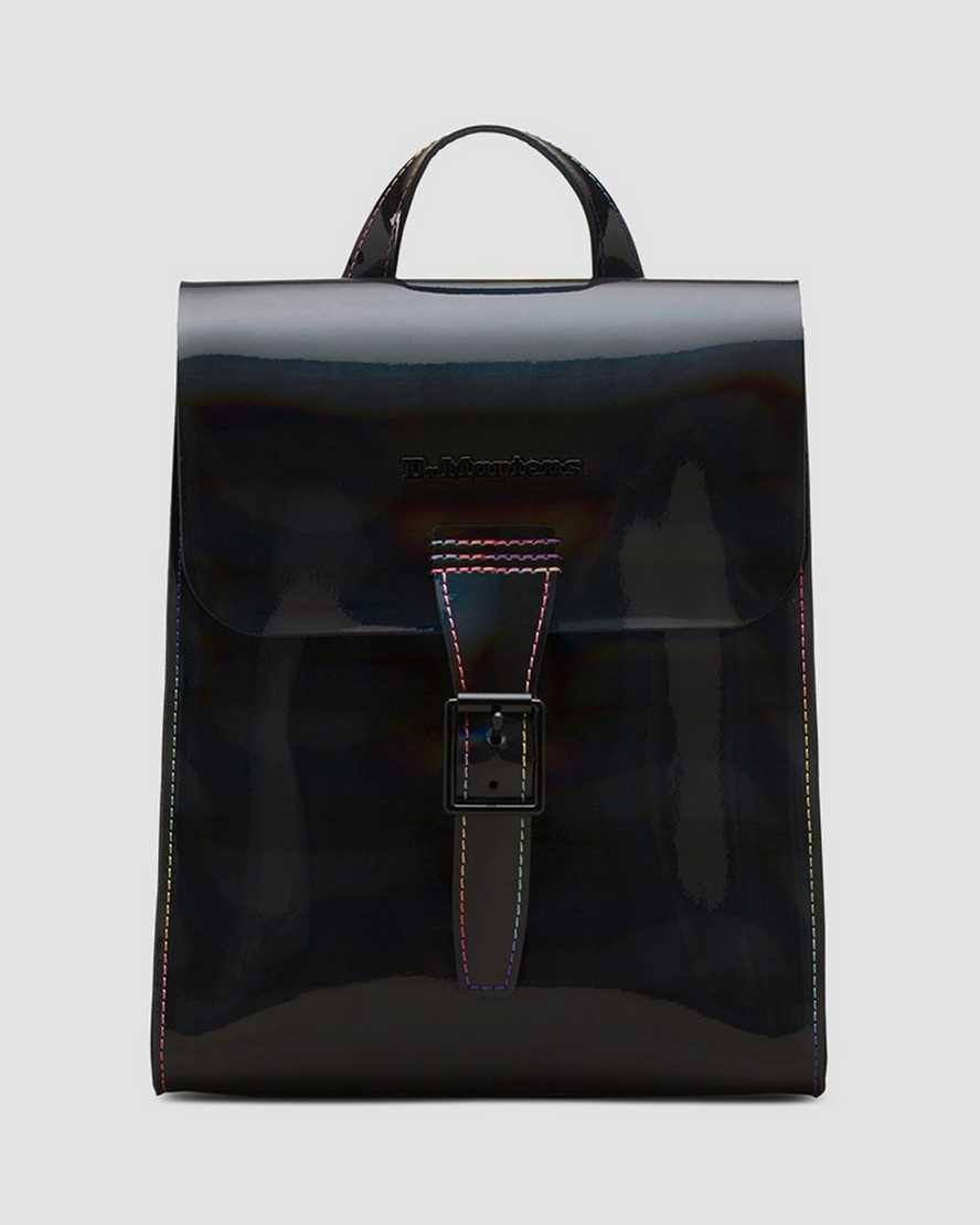Mini sac à dos en cuir verni Rainbow   Dr Martens
