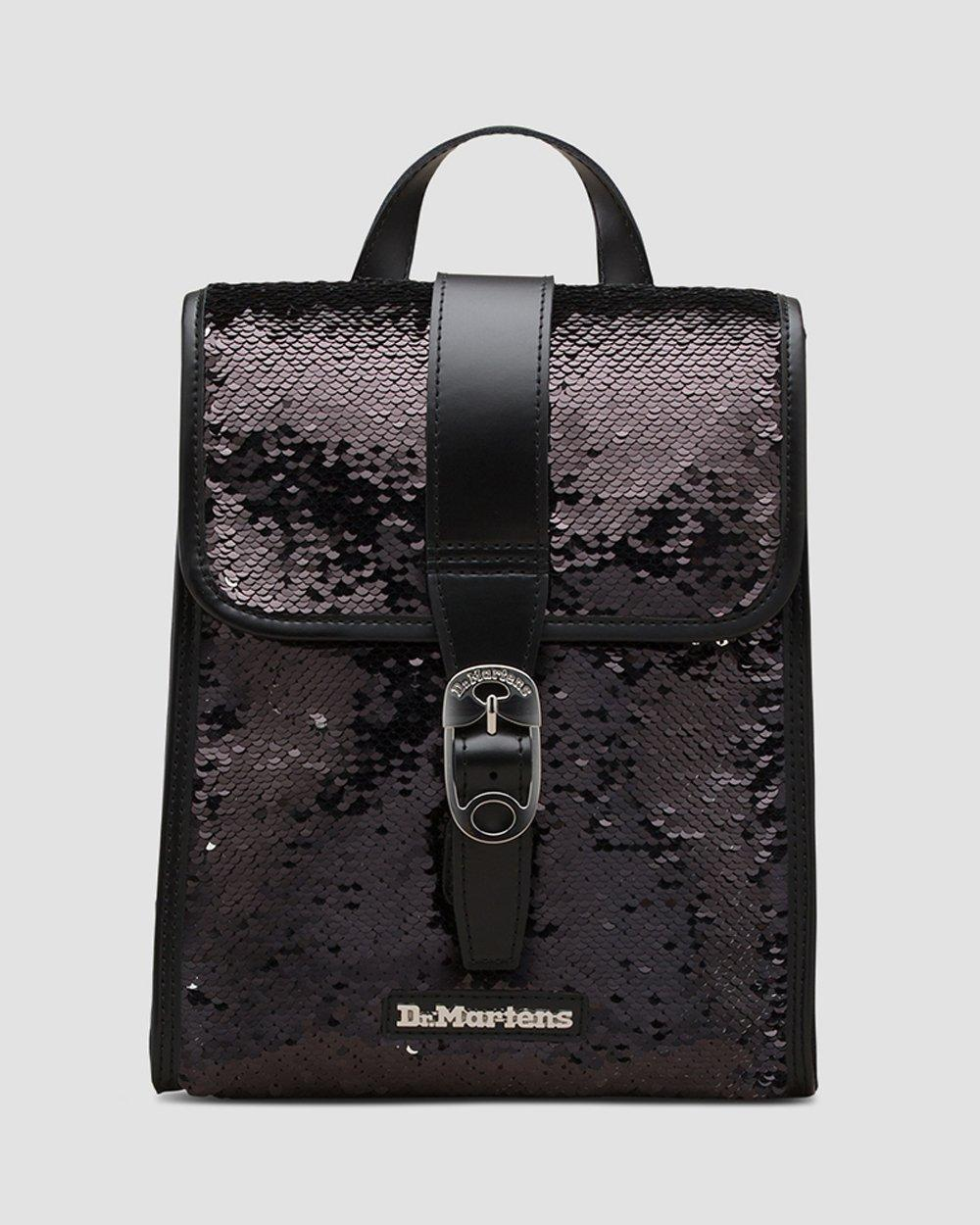 Mini Reversible Sequin Leather Backpack