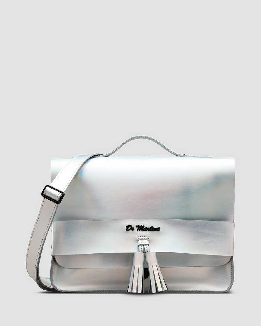 13'' Iced Metallic Leather Satchel | Dr Martens