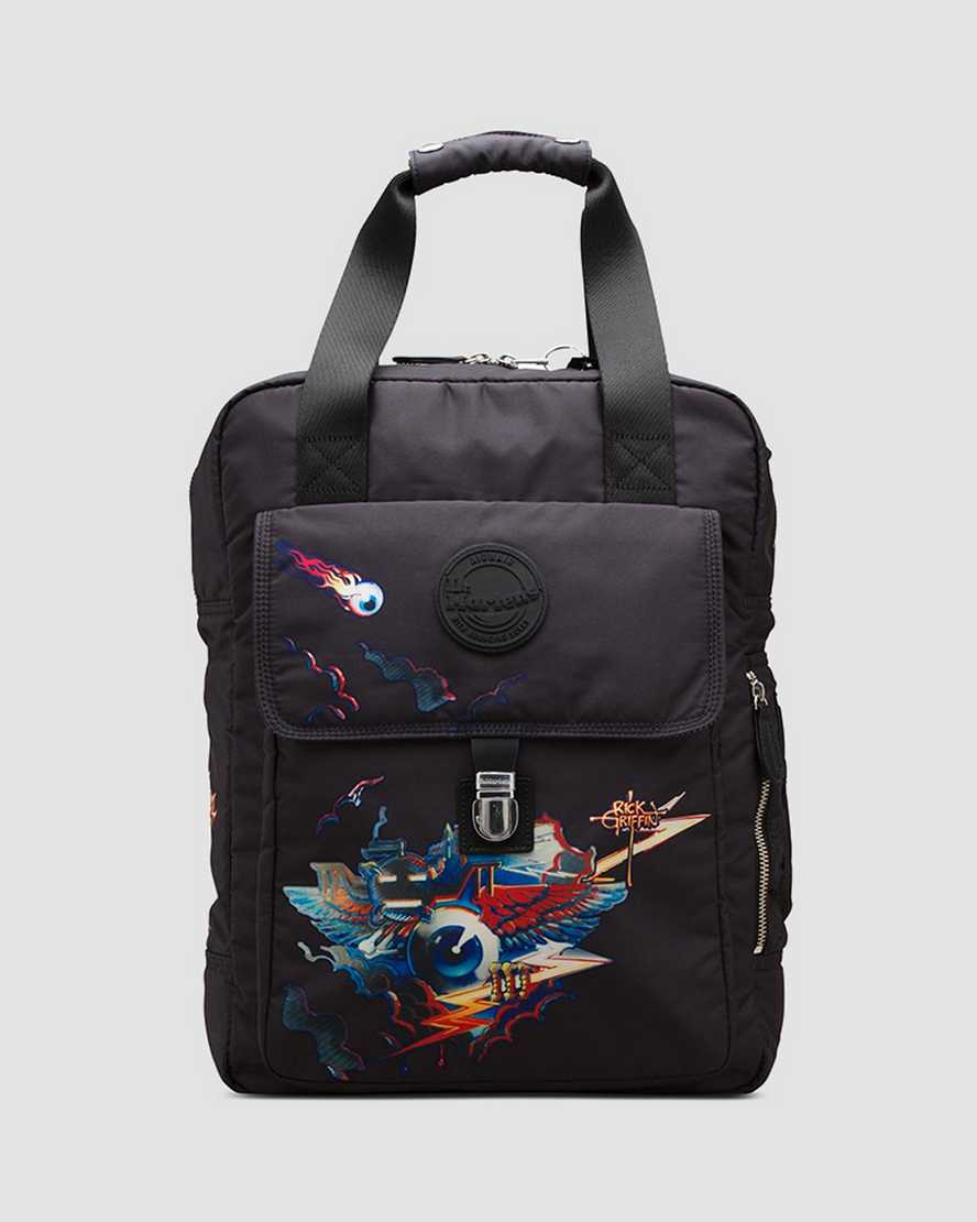 Rick Griffin Fabric Backpack   Dr Martens