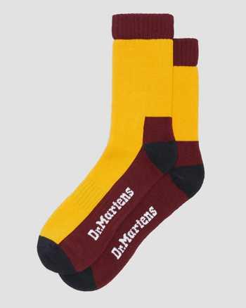 YELLOW+NAVY+OXBLOOD | Socks | Dr. Martens