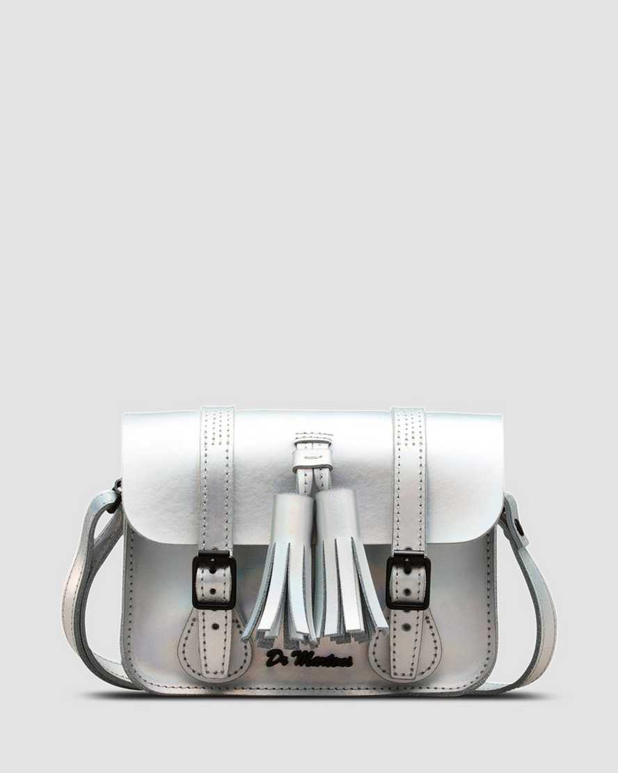 7 Inch Iced Metallic Leather Satchel | Dr Martens