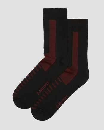 BLACK+CHERRY RED | Socks | Dr. Martens