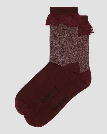 METALLIC CHERRY RED | Socks | Dr. Martens