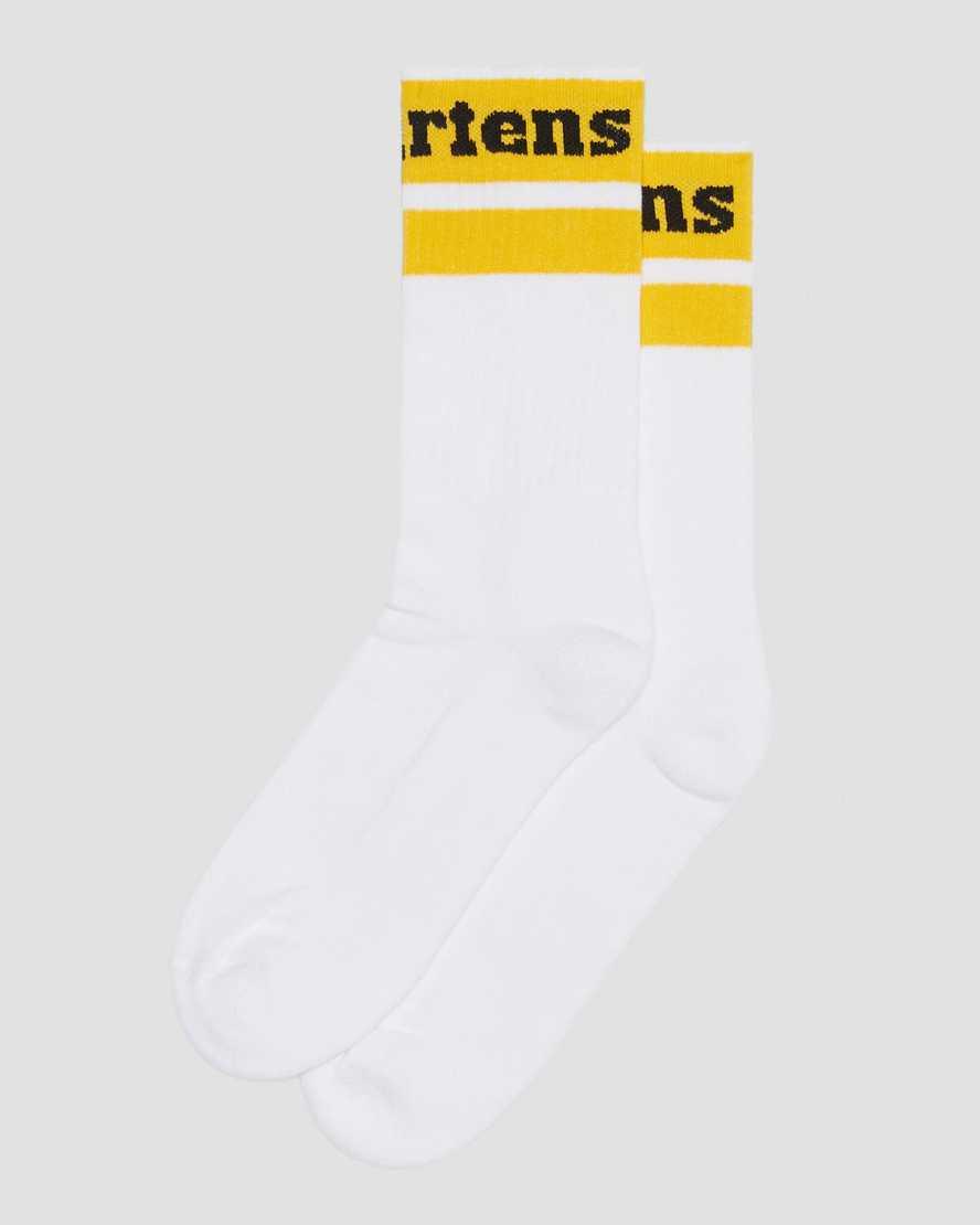 Athletic Logo Cotton Blend Socks   Dr Martens