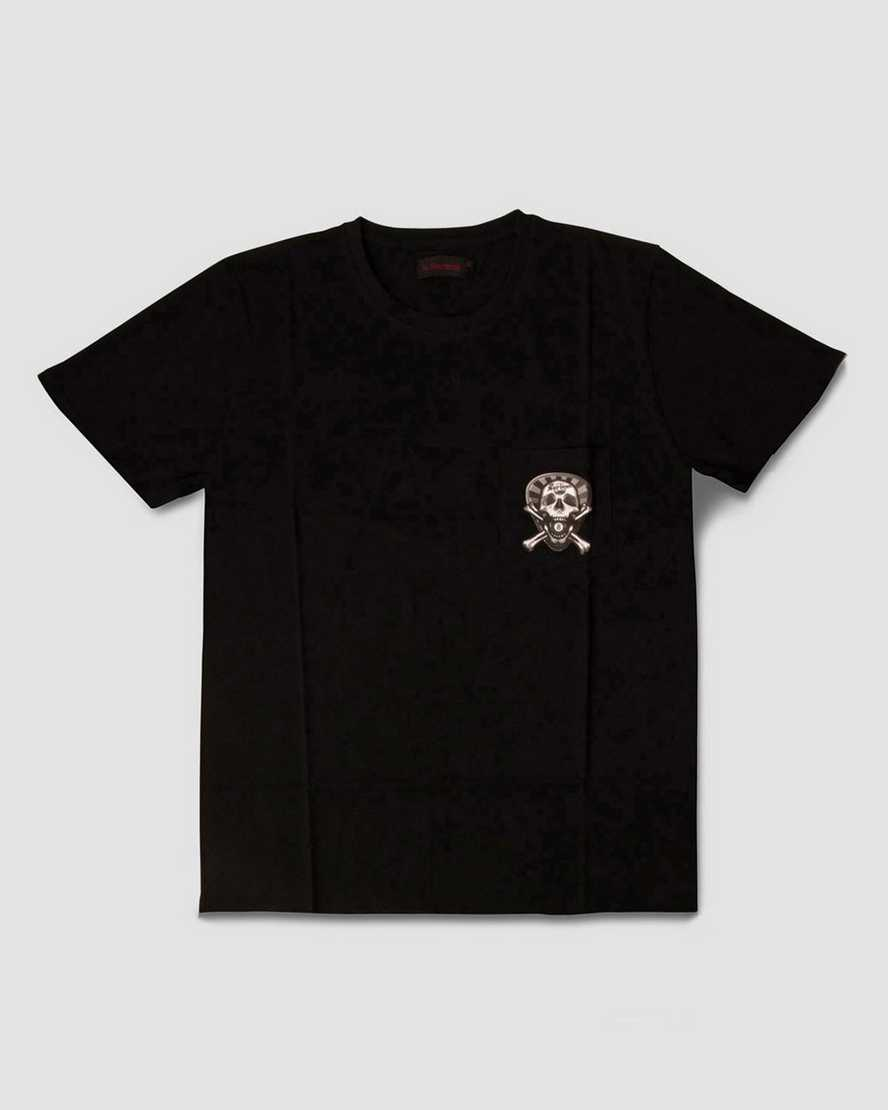 PLECTURM SKULL TEE (WITH POCKET) | Dr Martens