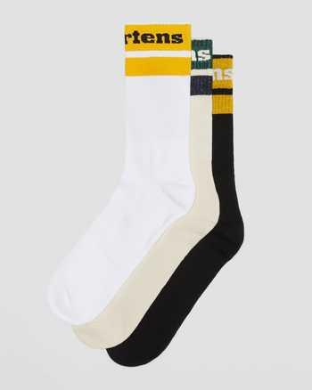 BLACK+EGRET+WHITE | Socks | Dr. Martens