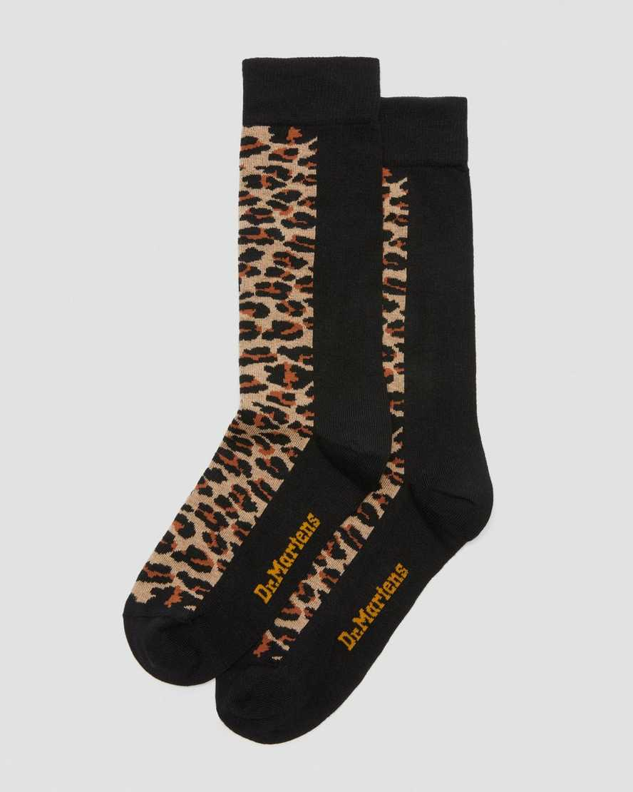 Leopard Print Socks   Dr Martens