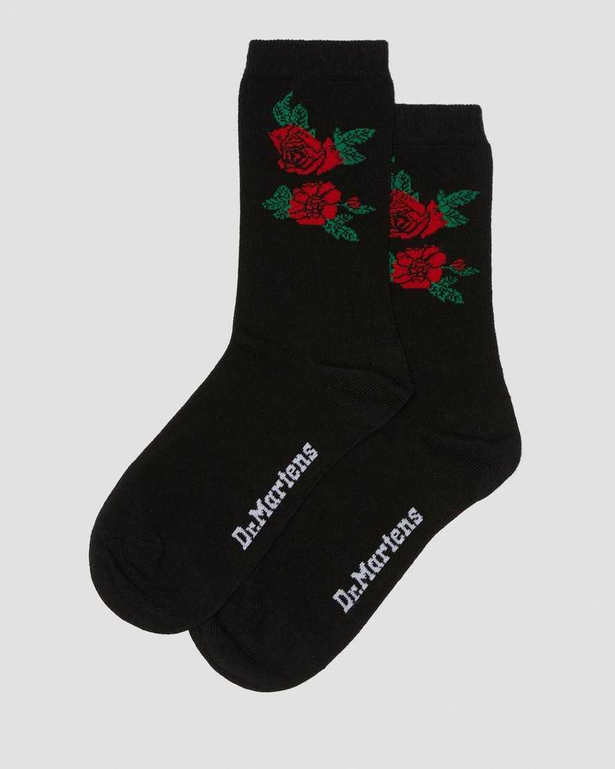 Vonda Cotton Blend Floral Short Socks | Dr Martens