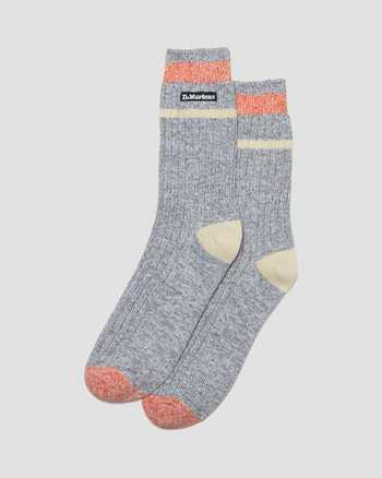GREY/WHITE | Socks | Dr. Martens