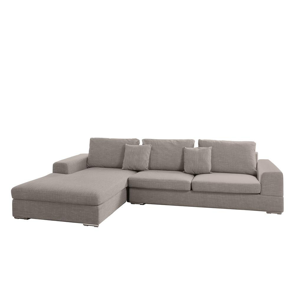 Verona II right hand facing arm four seat chaise end sofa mocha