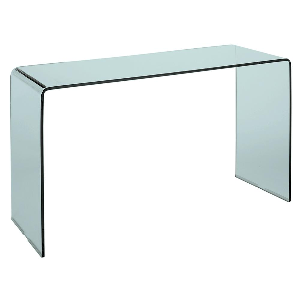 Pulito glass console table clear