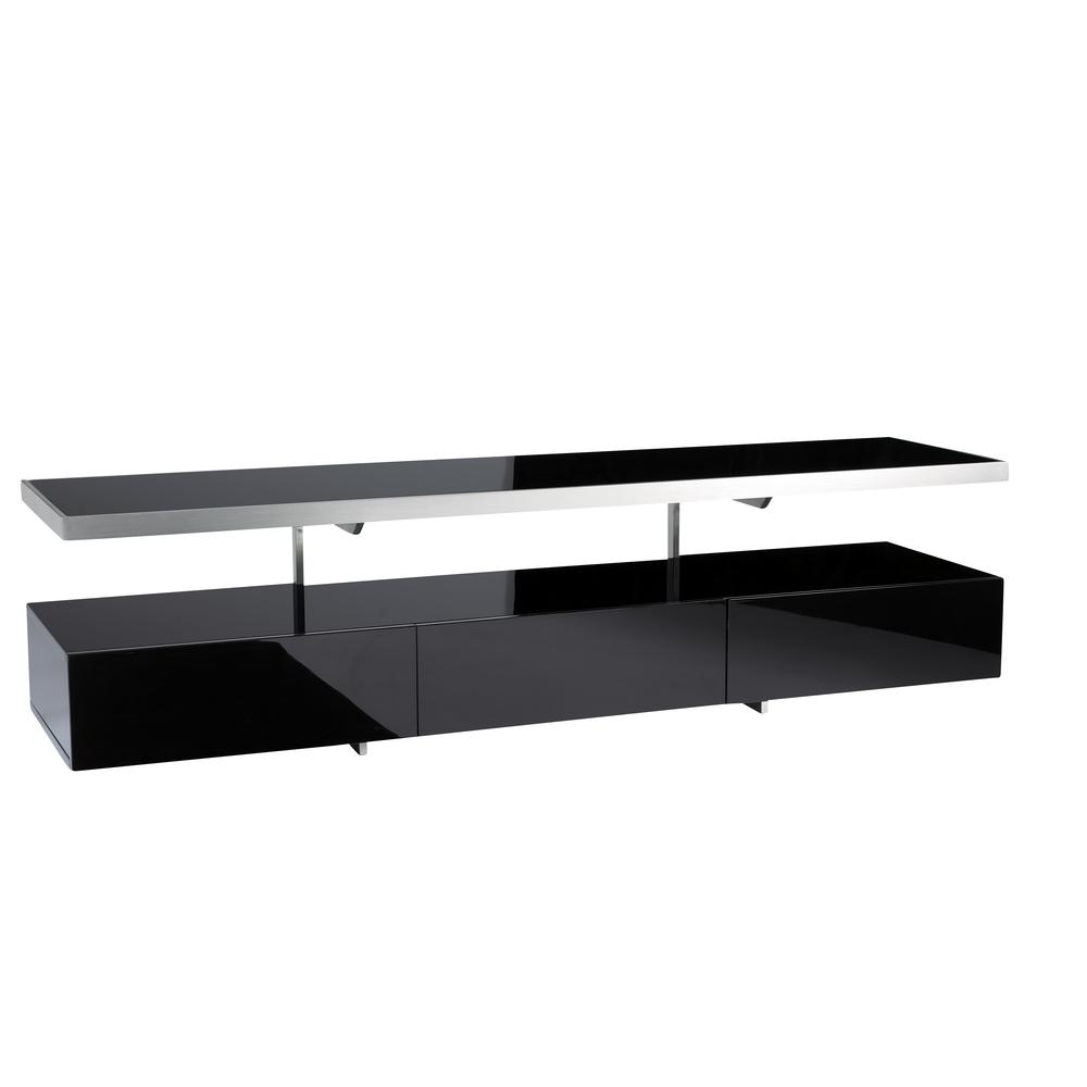 Magro floating shelf TV unit black