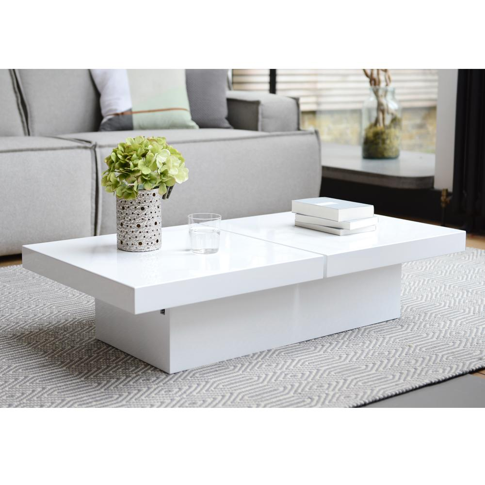 Basso two block storage coffee table white